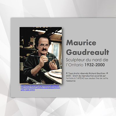 Maurice Gaudreault, son œuvres
