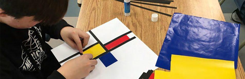Le rapport à la manière de Mondrian